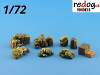 1:72 or 1:76 resin military modelling accessories vehicle cargo storage kit - c1
