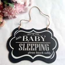 Baby Sleeping Letters Printed Bedroom Door Wooden Hanging Sign Board Seraphic