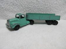 vintage diecast Tootsie Toy green semi-truck with trailer lot T