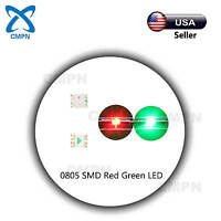 100Pcs 0805 2012 LED SMD SMT Red/Green Bi-Color Super Bright Light Lamp Diodes