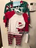 Santa Claus Boy's Set of Two Carter's 2 Pc Sleep Set Pajamas PJs (18 mos) - NEW!