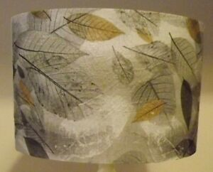 Pressed Leaves Lamp Shade Lampshade shabby chic, grey,FREE GIFT