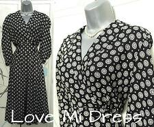 BHS - Vintage 40's 50's Style Flower Print Dress Sz 14 EU42