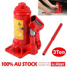 3 Ton Hydraulic Bottle Jack Support Stand Car Truck Vehicle Lifting Repair Set
