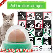 10-30PCS Cat Snacks Catnip Sugar Candy Licking Nutrition Energy Ball Healthy HK