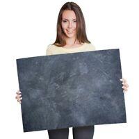 A1 - Dark Stone Slate Wall Colour Poster 60X90cm180gsm Print #21449