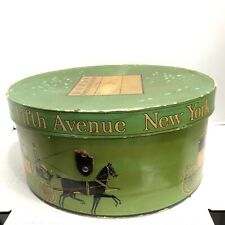 Vintage Dobbs 5th Avenue Ny Hat Box Horse & Carriage Storage