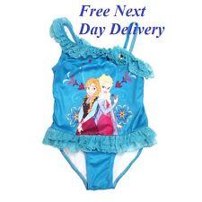 Traje de baño bañador Lila Azul Disney para niñas Elsa Anna Frozen