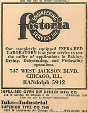 1946 Fostoria Engineering Service Inc West Jackson Blvd Chicago Ad