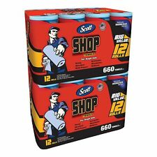Scott Shop Towels 24 Rolls Packs Blue Original Multi Purpose Grease Oil Cleaner