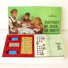 Ancien jeu de Société - COFFRET DE JEUX DE MOTS - Capiepa - 1973 dc6ded079e0d