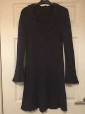 SIZE 10 NEXT DRESS JUMPER STYLE WOOL CONTENT PURPLE