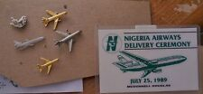 Vintage McDonnell Douglas DC-10 7 item lot: Company newspaper / 5 pins / Badge