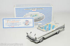 DINKY MATCHBOX 003 CHEVROLET BELAIR CONVERTIBLE WHITE CODE-2 MINT BOXED RARE