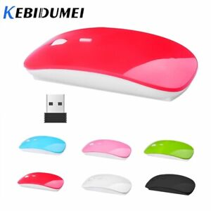 Kebidumei USB Optical 2.4G Wireless Mouse Receiver Super Ultra Thin Slim Mouse m