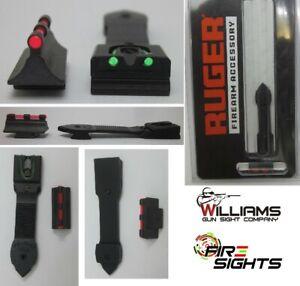 RUGER 90340 Front & Rear Fiber Optic Sight set 10/22  60213 Williams Fire