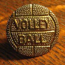 Volleyball Letterman Jacket Lapel Pin - Vintage Sports Athlete Team Varsity Pin