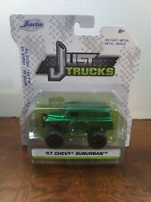'57 Chevy Suburban Green With Flames Just Trucks Diecast 2019 Jada