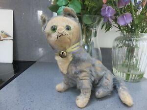 Vintage Antique Blue Mohair Einco/Steiff? Cat Circa 1910