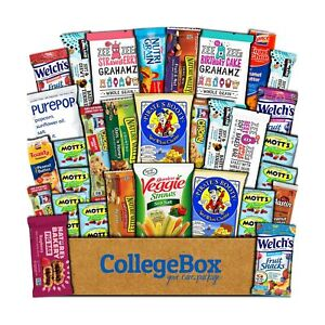 CollegeBox Healthy Care Package (30 Count) Natural Food Bars Nuts Fruit Healt...