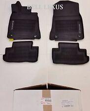 LEXUS FACTORY CARPET FLOOR MAT SET 15-18 RC300 RC350 AWD BLACK W//GRAY STITCHING
