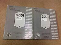 2001 PONTIAC AZTEK EARLY INFORMATION Service Shop Repair Manual Set 2 VOLUME OEM