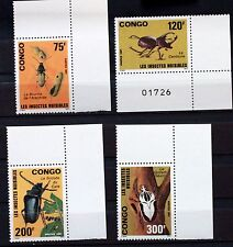 Timbres CONGO INSECTES NUISIBLES  serie complete MNH 1971 Scott 903/6   88M618