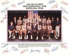 1992 NBA DREAM TEAM AUTOGRAPHED 8x10 RP PHOTO MICHAEL JORDAN PIPPEN BIRD BARKLEY