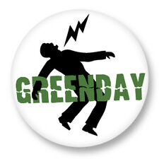 """Pin Button Badge Ø25mm 1"""" Green Day Punk Rock Billie Joe Armstrong Mike Dirnt"""