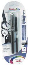 Pentel Pocket Noir Chinois Encre Pinceau Stylo + 2 recharges (FP10) - Noir Baril