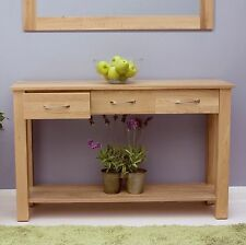 Mobel solid oak hallway furniture console hall table and felt pads