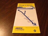 SEPTEMBER 1992 METRA NORTHWEST LINE CHICAGO TO HARVARD PUBLIC TIMETABLE
