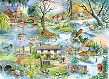 The House Of Puzzles - 500 PIECE JIGSAW PUZZLE - All Seasons Unusual Pieces