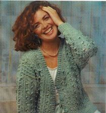 Crochet Cable Ladies Cardigan DK PATTERN  (NOT FINISHED ITEM)