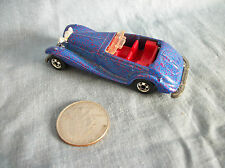 Hot Wheels Vintage 1982 Mattel Blue Glitter Car Red Interior Made in Malaysia