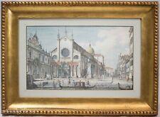 """Antonio Visentini Antique Etching of Venice """"Templum et Schola D. Marci"""" RARE!"""