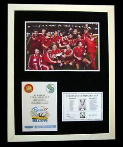 ABERDEEN+1983+EUROPEAN CUP FINAL+Football+LTD+FRAMED+EXPRESS GLOBAL SHIPPING!!