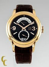 Men's ESQ Swiss Day Retrograde Stainless Steel Watch Brown Leather Band