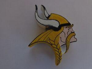 "Minnesota Vikings 2 1/2""  Painted Team Logo Ceramic Magnet"