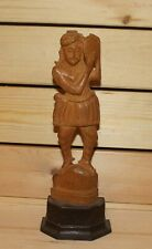Vintage Asian hand carving wood statuette