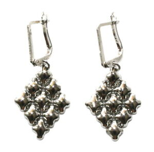SG Liquid Metal Small Diamond Mesh Earrings by Sergio Gutierrez E11