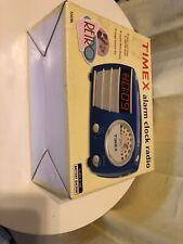 New in opened box Timex Alarm Clock Radio blue