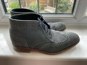 Loake Grey 8.5 Suede Boots - Perfect Used Condition, Worn Twice