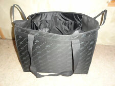 Pampered Chef Black Consultant XL Reusable Carry Tote Bag Black 20 x 12.5 x 15