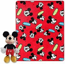 Mickey Mouse PlushThrow and Pillow Set NEW