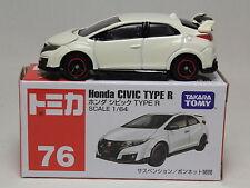 TOMICA NO.76 HONDA CIVIC TYPE R WHITE BOX 1/64 TAKARA TOMY JAPAN