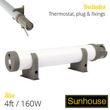 4FT 160W SUNHOUSE ELECTRIC TUBULAR HEATER WITH THERMOSTAT AND PLUG