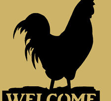 Rooster Welcome sign, Farm Animal, County, Gift, Metal Art, Barn, Welcome Sign