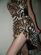 JOSEPH RIBKOFF ANIMAL PRINT WRAP DRESS SIZE UK 8 FR 36