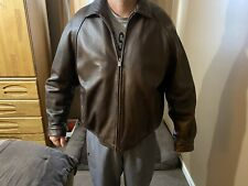 Wilson Leather Mens Bomber Jacket Brown